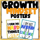 Growth Mindset Posters Bright Watercolor Themed