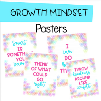 Growth Mindset Posters - Bubbles