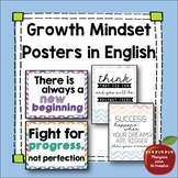 Growth Mindset Posters in English Bulletin Board Printable