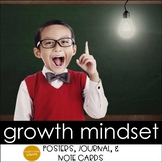 Growth Mindset Posters, Reflective Journal, & Note Cards