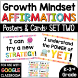 Growth Mindset Posters Bulletin Board SET #2 for Primary Grades