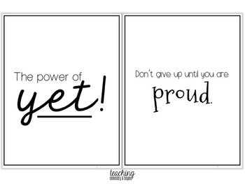 Growth Mindset Posters Bundle for Junior, Intermediate and Senior Students