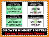 Growth Mindset Posters- Cactus / Succulent Theme