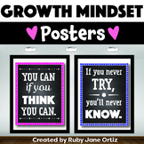 Growth Mindset Posters - Chalkboard Brights Classroom Decor