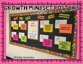 Growth Mindset Posters    Change Your Mindset Bulletin Board    Black & White