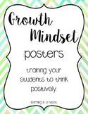 Growth Mindset Posters (Chevron Watercolor)