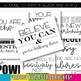 Growth Mindset Posters: Color and Black & White Options Included