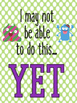 Growth Mindset Posters & Coloring Pages Monster Theme