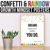 Growth Mindset Posters Confetti Classroom Decor