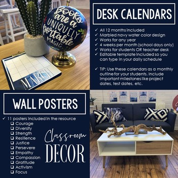 Growth Mindset Posters & Desk Calendars: Extreme Makeover Classroom Edition