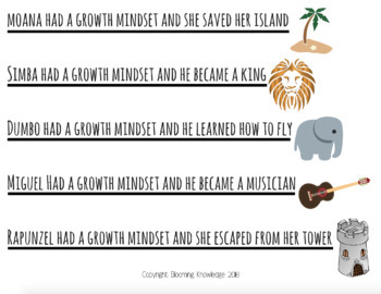 Growth Mindset Posters (Disney Themed)