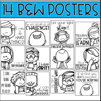 EDITABLE Growth Mindset Posters and Bulletin Board