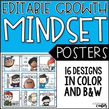 Growth Mindset Posters {Editable}