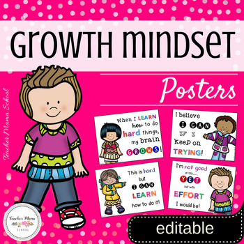 Growth Mindset Posters - Editable