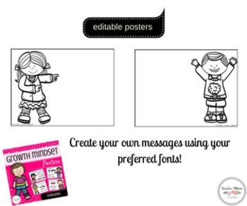 Growth Mindset Posters - Editable