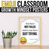 Growth Mindset Posters Emoji Growth Mindset Bulletin Board Ideas