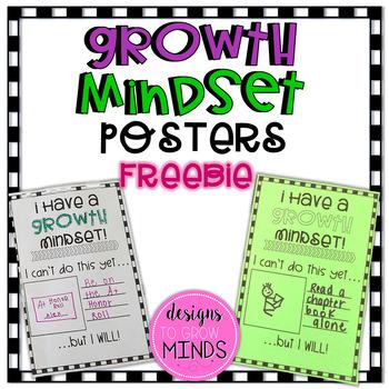 Growth Mindset Posters- FREEBIE!