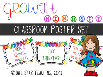 Growth Mindset Posters FREEBIE