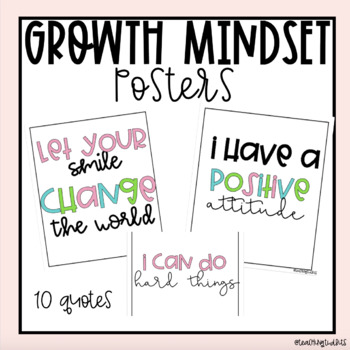 Growth Mindset Posters (Farmhouse Brights)
