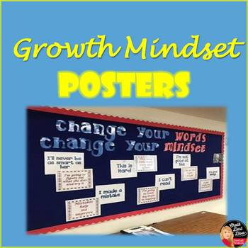 Growth Mindset Posters - Fixed vs Growth Mindset
