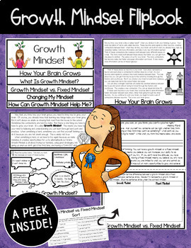 Growth Mindset Posters, Flipbook, Bookmarks, & Pennant (Upper Elementary Style)
