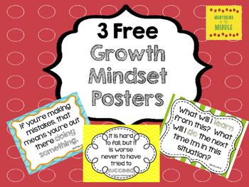 Growth Mindset Posters Freebie!