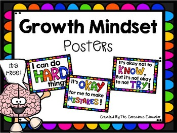 Growth Mindset Posters- Freebie!