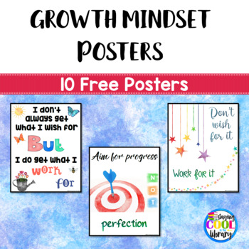 Growth Mindset Posters - Freebie