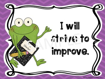 Growth Mindset Posters (Frog Theme)