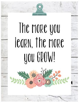 Growth Mindset Posters- Garden Party Theme
