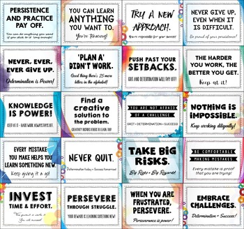 Growth Mindset: 72 Posters (Grades 6, 7, 8, 9)