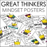 Growth Mindset Posters Great Thinkers Classroom Decor