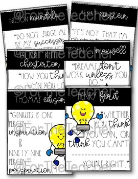 Growth Mindset Posters {Historical Quotes}