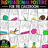 Growth Mindset Posters | Inspirational Neon Posters | Clas