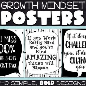 Growth Mindset Quotes Posters
