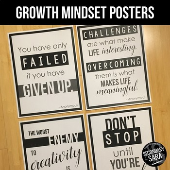 Growth Mindset Posters: Inspirational Quotes 8-Pack