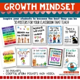 Growth Mindset Posters   Inspire! Learn! Grow!   Teaching