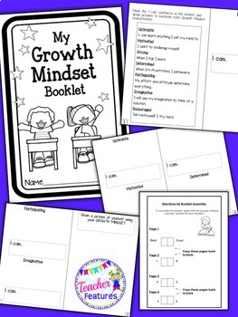 Growth Mindset Posters & Interactive Booklet
