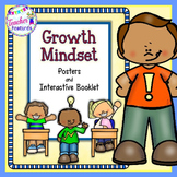 """Growth Mindset Activities and Positive Thinking plus Interactive """"I CAN"""" Booklet"""