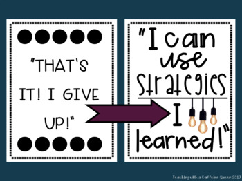 Growth Mindset Posters - Jewel Theme with Banners - 6 Different Styles