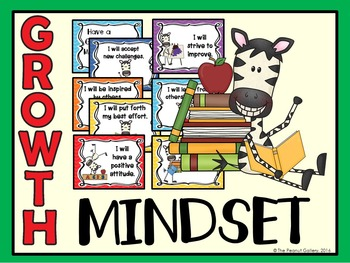 Growth Mindset Posters (Jungle/Zebra Theme)