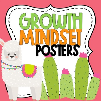 Growth Mindset Posters Llama Themed