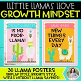 Growth Mindset Posters: Llamas Llove Growth Mindset! {Llama & Cactus Decor}