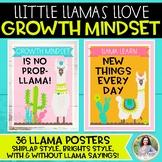 Growth Mindset Posters: Llamas Llove Growth Mindset! {Llam