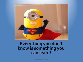 Growth Mindset Posters - Minion-themed Set One (Editable)