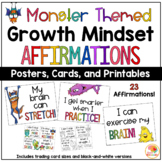 Growth Mindset Posters - Monster Theme Affirmations for Primary Grades