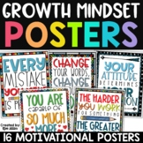Growth Mindset Posters | Motivational Posters Classroom Decor | 2nd Edition