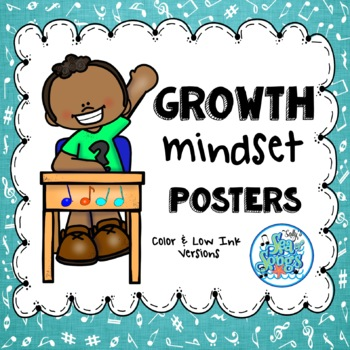 Growth Mindset Posters - Music Theme