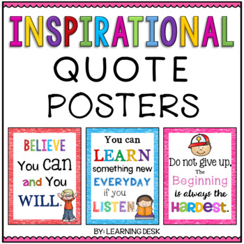 Inspirational Quotes Posters