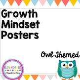 Growth Mindset Posters Owl Themed